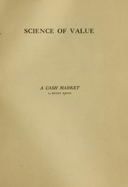 Cover of: Science of value