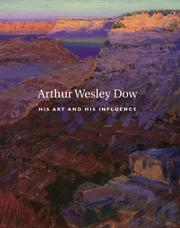 Cover of: Arthur Wesley Dow, 1857-1922
