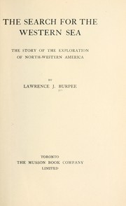 Cover of: The search for the western sea