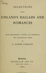 Cover of: Selections from Ballads and Romances