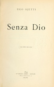 Cover of: Senza Dio