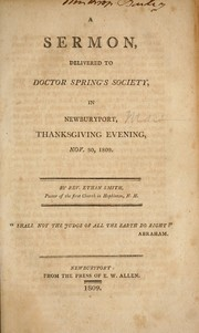 Cover of: A sermon delivered to Doctor Spring
