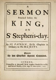 Cover of: A sermon preached before the King, on St Stephens-day | Simon Patrick