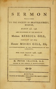 Cover of: A sermon preached to the society in Brattle-Street, Boston, March 25th, 1798