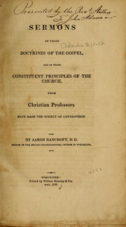 Cover of: Sermons on those doctrines of the gospel