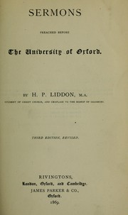 Cover of: Sermons, preached before the University of Oxford | Henry Parry Liddon