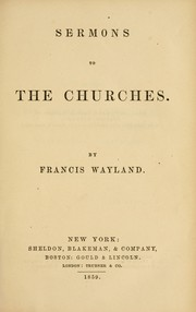 Cover of: Sermons to the churches