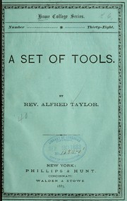Cover of: A set of tools | Alfred Taylor