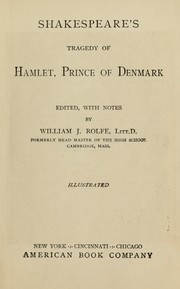 Shakespeare's tragedy of Hamlet, prince of Denmark by William Shakespeare