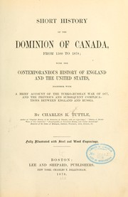 Cover of: Short history of the Dominion of Canada, from 1500 to 1878