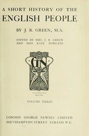 Cover of: A short history of the English people | J. R. Green