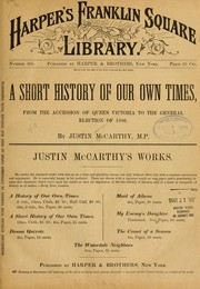 Cover of: A short history of our own times