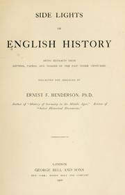 Cover of: Side lights on English history | Ernest F. Henderson