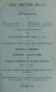 Cover of: The silver bills | Francis G. Newlands