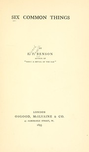Cover of: Six common things