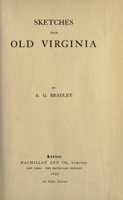 Cover of: Sketches from old Virginia