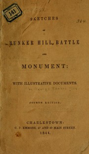 Cover of: Sketches of Bunker Hill battle and monument