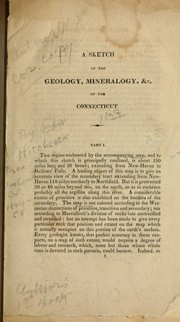 Cover of: A sketch of the geology, mineralogy and topography of the Connecticut