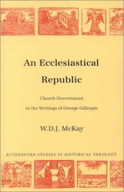 Cover of: An Ecclesiastical Republic | D. J. W. McKay