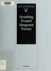 Cover of: Streamlining personnel management processes