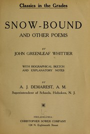 Cover of: Snow-bound, and other poems