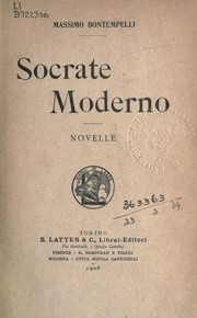 Cover of: Socrate moderno