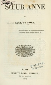 Cover of: Soeur Anne par Paul de Kock