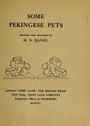 Cover of: Some Pekingese pets | M. N. Daniel