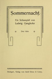 Cover of: Sommernacht