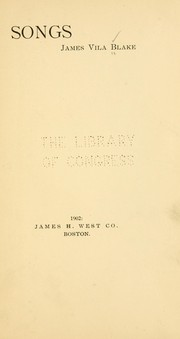 Cover of: Songs