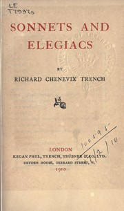 Cover of: Sonnets and elegiacs
