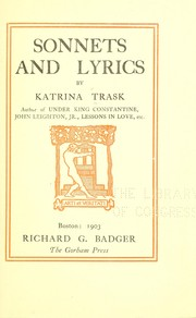 Cover of: Sonnets and lyrics