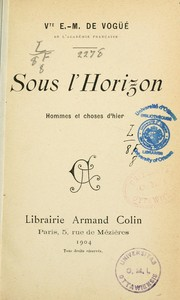 Cover of: Sous l'horizon