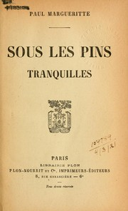 Cover of: Sous les pins tranquilles