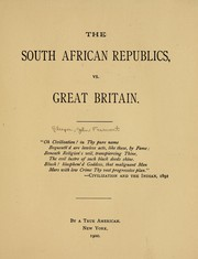 Cover of: The South African republics, vs. Great Britain ...