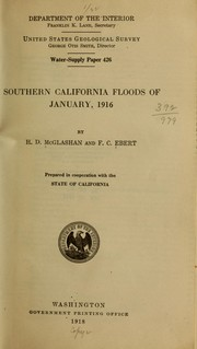 Cover of: Southern California floods of January, 1916