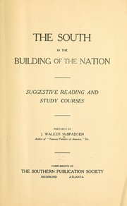 Cover of: The South in the building of the nation