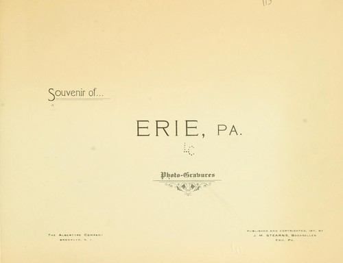 Souvenir of Erie, Pa. by