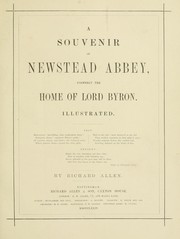 Cover of: A souvenir of Newstead Abbey