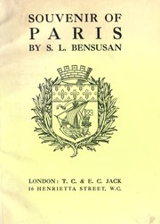 Cover of: Souvenir of Paris | S. L. Bensusan