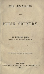 Cover of: The Spaniards & their country