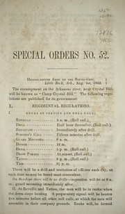 Cover of: Special orders no. 52 | Confederate States of America. Army. Trans-Mississippi Dept.