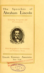 Speeches by Abraham Lincoln