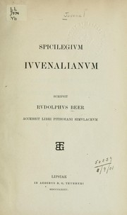 Cover of: Spicilegium Juvenalianum