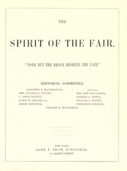 Cover of: The Spirit of the fair | Augustus R. MacDonough