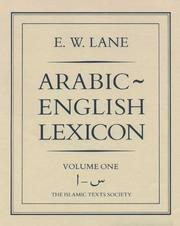 Cover of: Arabic-English Lexicon (Islamic Texts Society) | E.W. Lane
