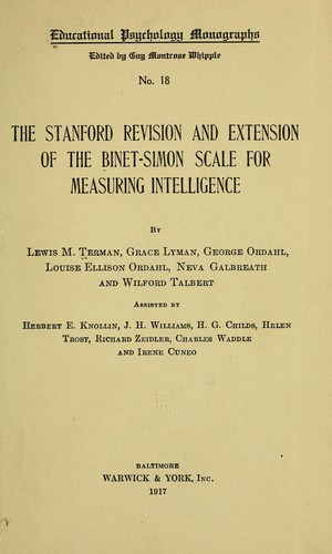 the binet simon scales that measures intelligence A revision of the binet-simon system for measuring the intelligence of binet and simon tests of intelligence scale because they attempt to measure.