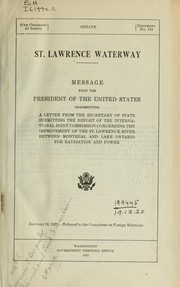 Cover of: St. Lawrence waterway | International Joint Commission
