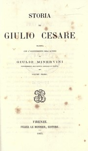 Cover of: Storia di Giulio Cesare
