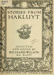 Cover of: Stories from Hakluyt, selected and edited by Richard Wilson